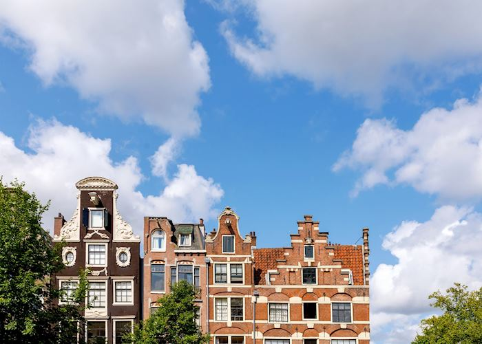 Gable houses of the Jordaan district in Amsterdam