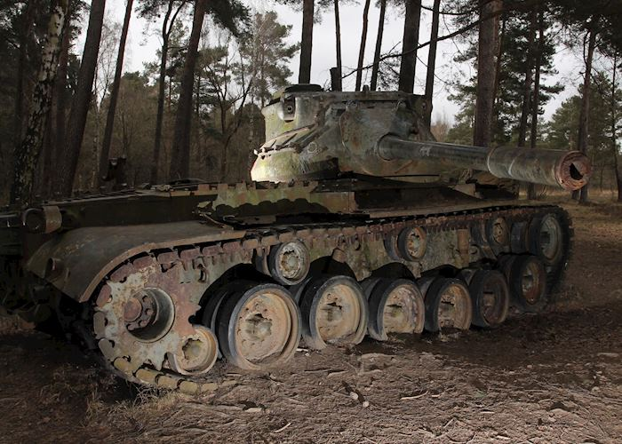 Abandoned tank in Ardennes, Luxembourg