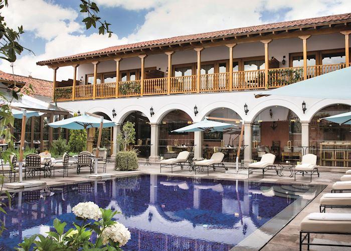 The pool at Belmond Palacio Nazarenas, Cuzco