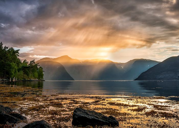 Sunset over Sognefjord