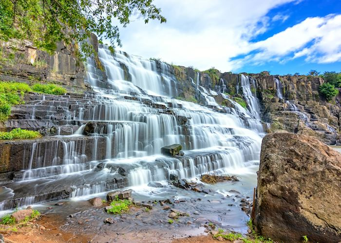 Waterfall in Vietnam's Central Highlands