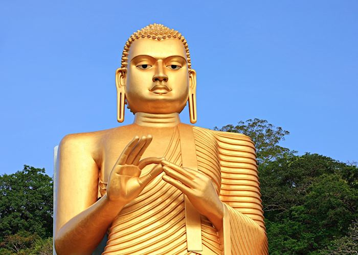 Golden Buddha statue in Dambulla