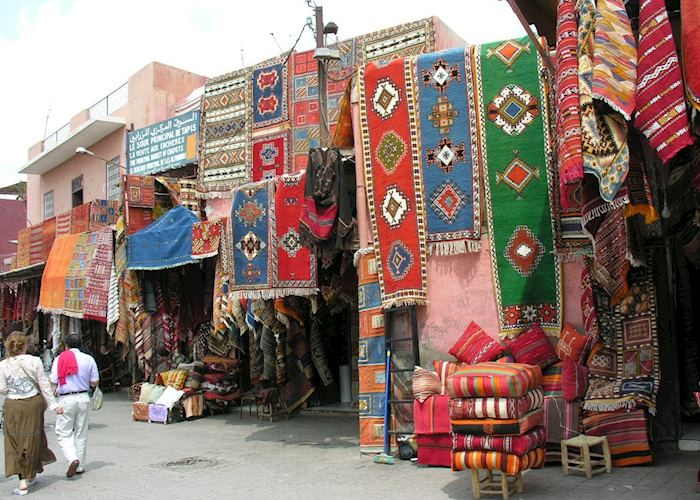 Carpet Shop in Marrakesh Souks