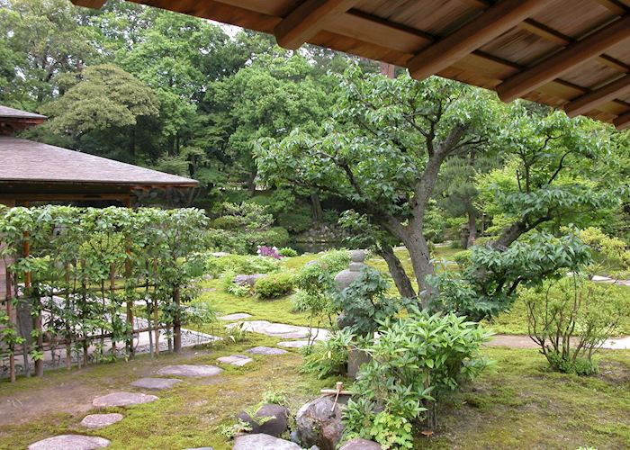 View from tea room, Kenrokuen garden