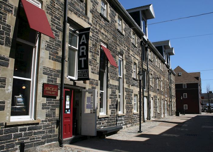 Heritage buildings on the old town waterfront, Halifax