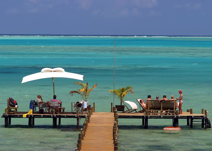 The pontoon at Boraha Villas