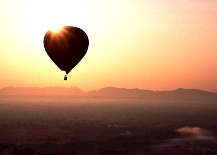Dawn balloon flight over Bagan, Burma (Myanmar)