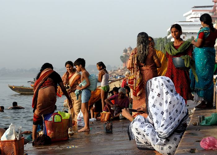 Worshippers having a bath at the Ganges, Varanasi