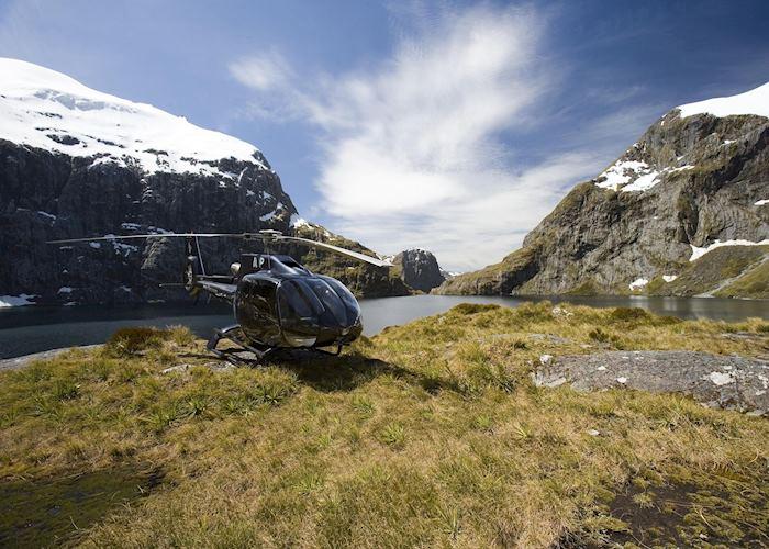 Scenic flight over Fiordland, New Zealand