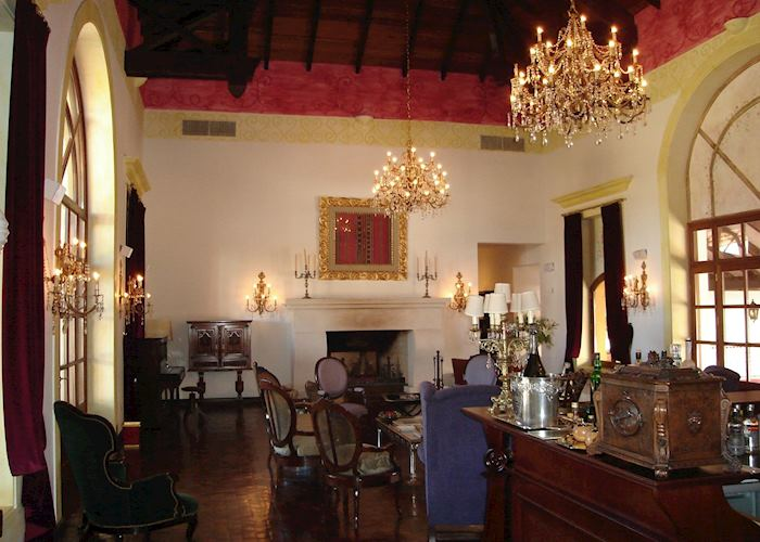 Living room at Estancia El Colibri, Argentina