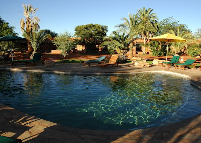 The pool, Kalahari Anib Lodge, Southern Namibia