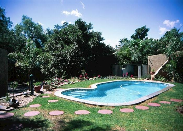 The pool at the Haus Sonnoneck, Windhoek