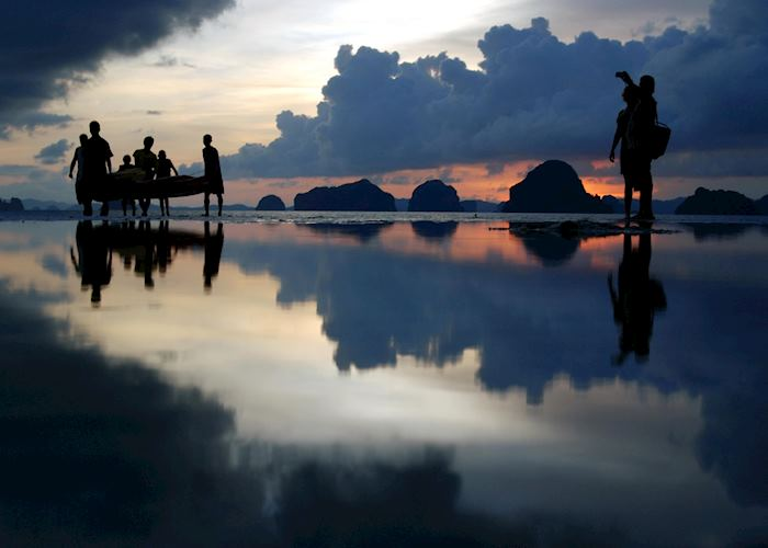 Sunset on Tubkaak beach, Krabi