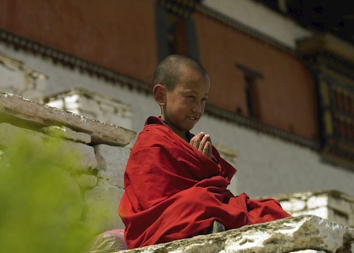 Young monk, Paro Dzong, Paro, Bhutan