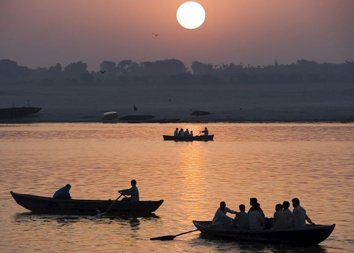 Sunset over the Ganges, Varanasi, India