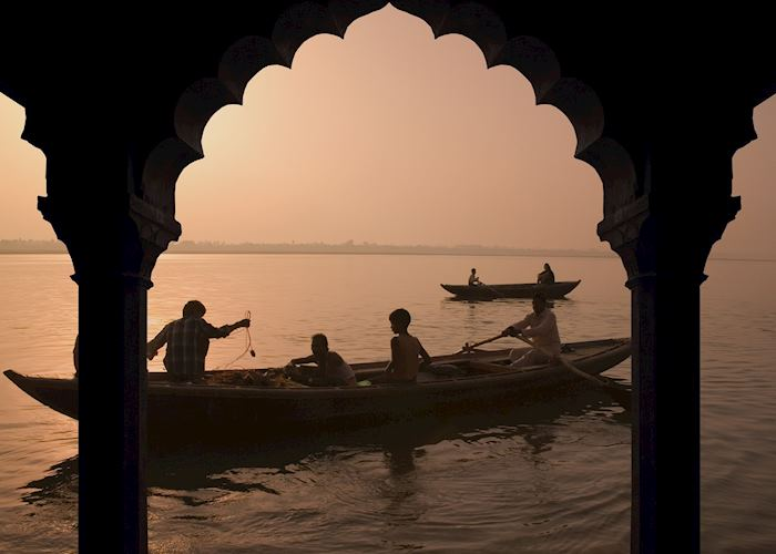 Sunset over the Ganges, Varanasi