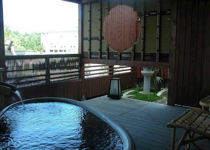 Private open air bath, Grand Hotel Tsuruga