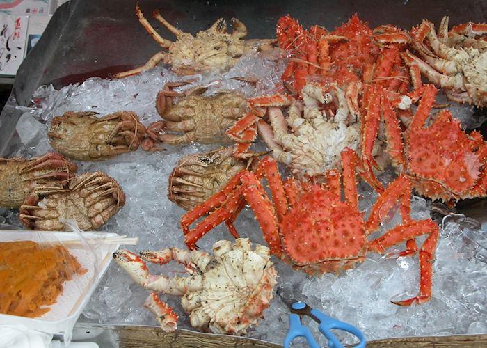 Crabs at Tsukiji Fish Market