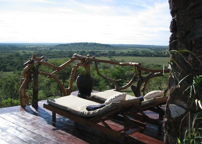 View from pool deck, Mbalageti Lodge