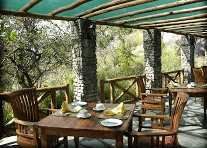 Dining at Mbuzi Mawe