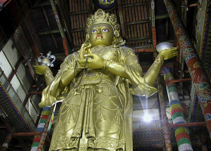 Migjid Janraisig buddha, Gandan Monestery, Ulaan Bataar