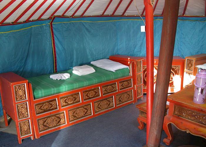 Traditional Felt Tent, Khustai Ger Camp, Khustai Nuruu National Park