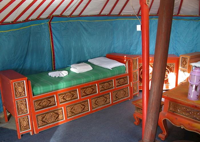 Traditional Felt Tent, Khustaii Ger Camp, Khustaii Nuruu National Park