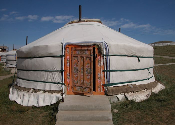 Traditional Ger Tent, Khustaii Ger Camp, Khustaii Nuruu National Park