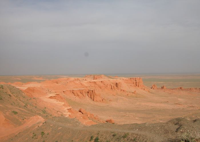 The 'Flaming Cliffs' - Bayanzag sand formations, Mongolia