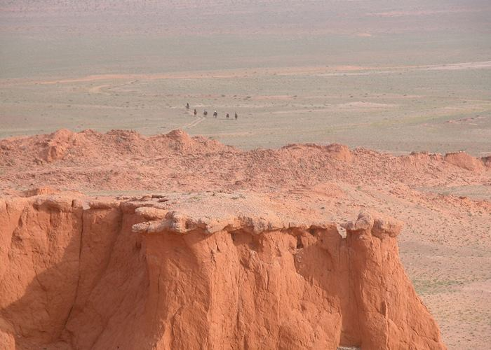 The 'Flaming Cliffs' - Byanzag sand formations, Mongolia