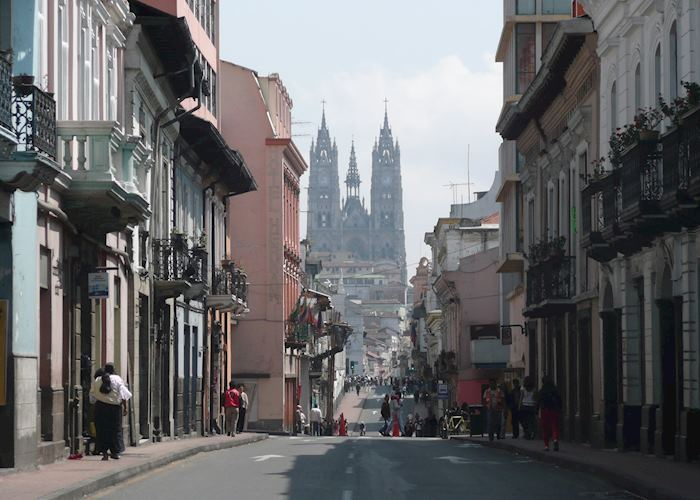 The Old Town of Quito.