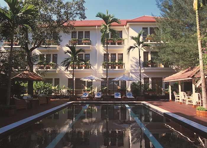 The swimming pool at the Savoy Hotel, Yangon