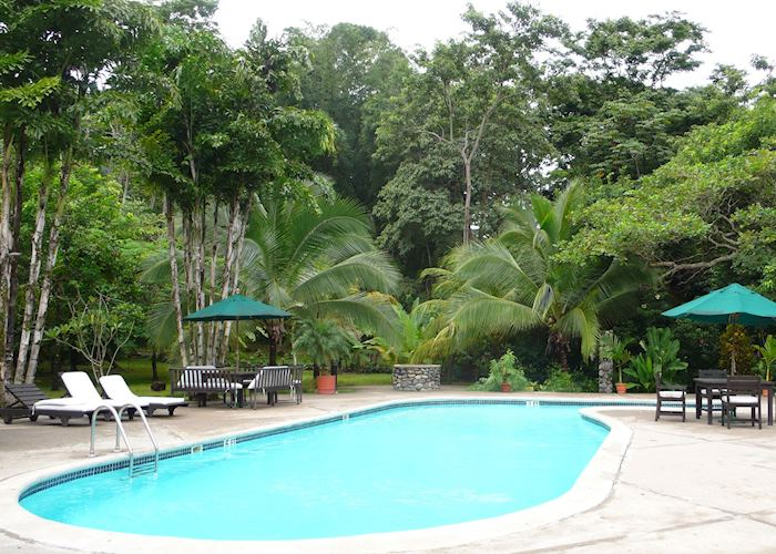 Pool area at The Lodge at Pico Bonito, La Ceiba