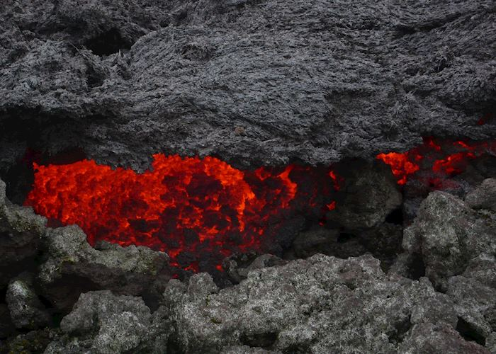 Lava flows on Pacaya volcano