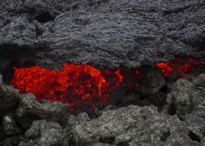 Lava flows on Pacaya volcano