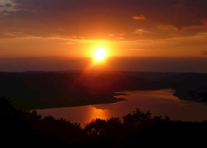 Sunset over Yaxha