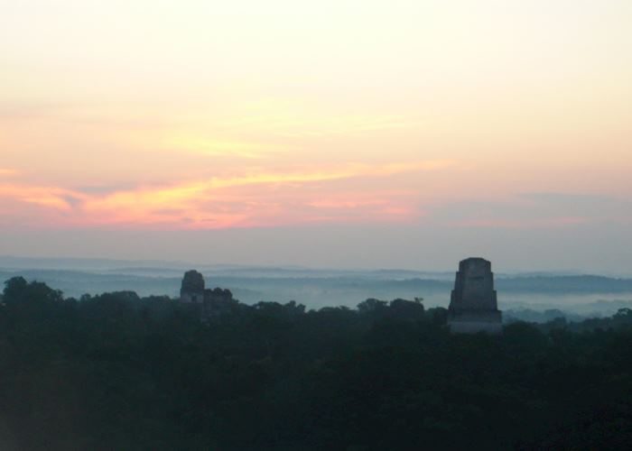Sunrise over Tikal