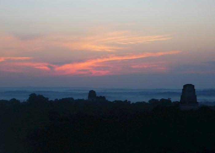 Sunrise over Tikal
