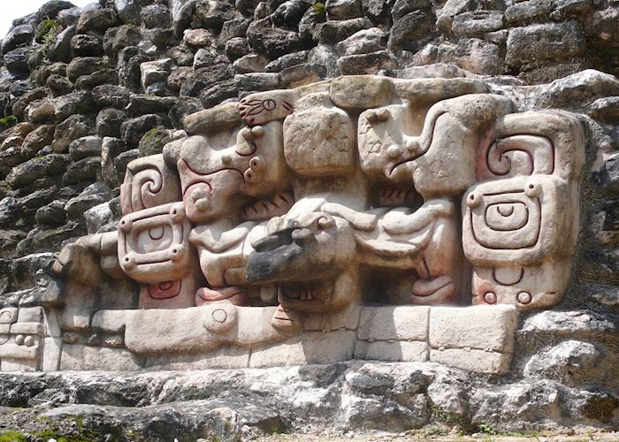 Relief work on the Caracol ruins