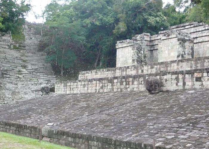 One of the impressive ball courts at Copan