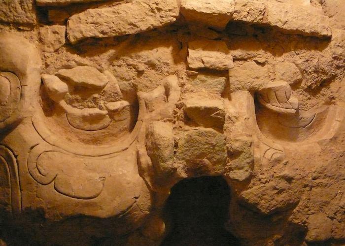 Underground Copan Mayan ruins.