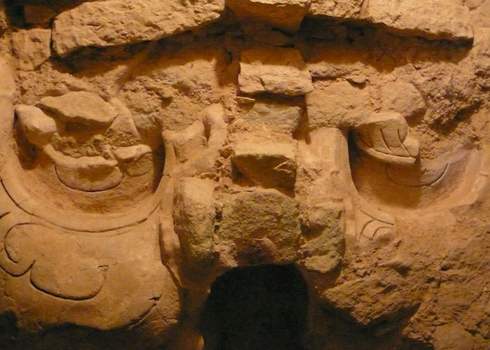 Underground Mayan temples at Copan