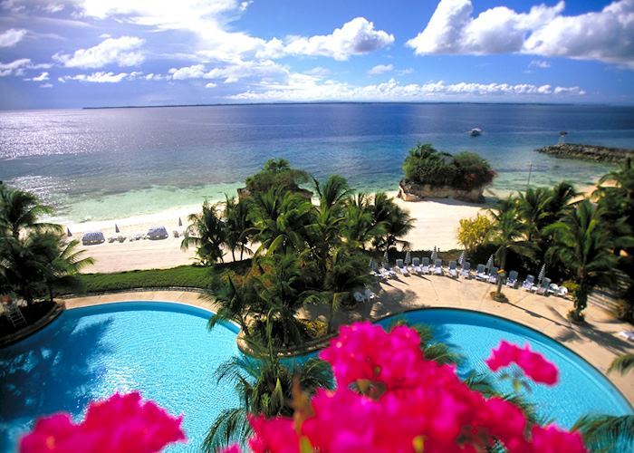 Sea views from the Shangri-La's Mactan Island Resort, Cebu