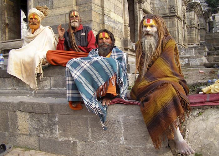 Sadhus, Pashupatinath, Kathmandu
