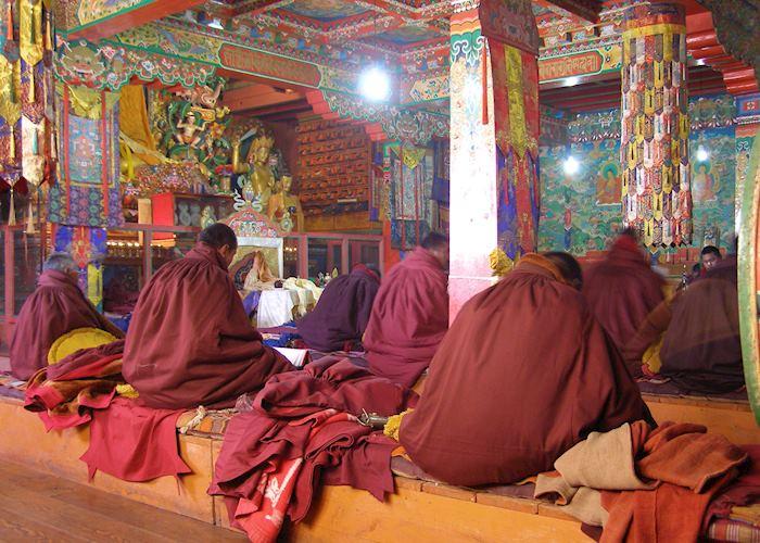 Buddhist monks, Tangboche Monastery, Everest Region, Nepal