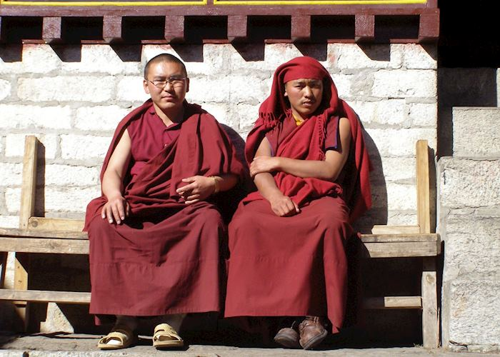 Monks at Tangboche Monastery