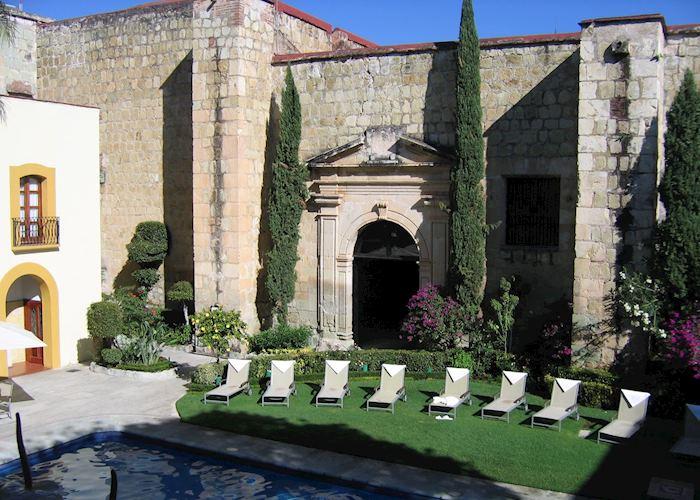 Swimming pool & Chapel, Quinta Real, Oaxaca