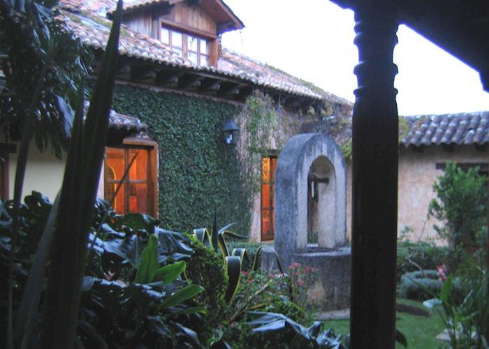 Hotel Casa Vieja well courtyard, San Cristobal de las Casas