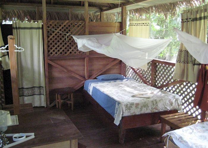Cabin interior, Manu Wildlife Centre