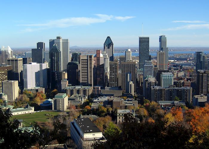 View from Montréal's skyline from Mont-Royal in Autumn